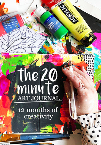 the 20 minute art journal: 12 months of creativity !!!NEW posts monthly till Dec 15, 2019!!!