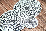 pretty paisleys- rubber stamp sheet
