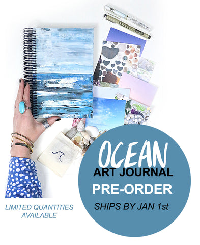 PRE-ORDER! ocean art journal bundle