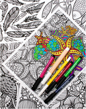 tribal designs 5 coloring pages
