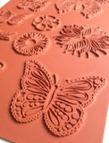 beautiful butterflies collection- rubber stamp sheet