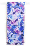 blue watercolor flowers scarf