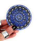 blue mandala vinyl sticker