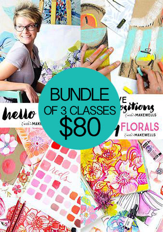 NEW! bundle of 3 classes: hello color, creative compositions, funky florals
