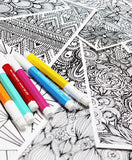 neighborhood and cities 5 coloring pages