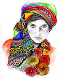 colorful head wrap art wrap