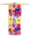 short colorful flowers scarf