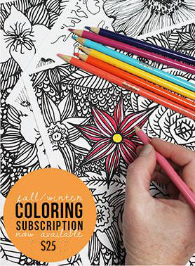 fall/winter coloring subscription