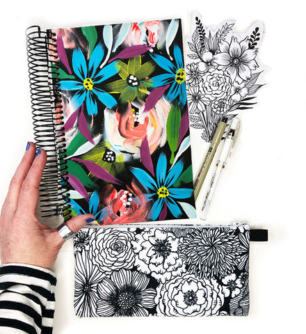 flower art journal bundle 11
