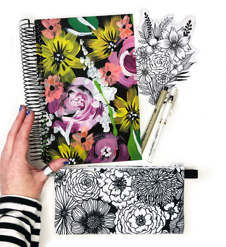 flower art journal bundle 13