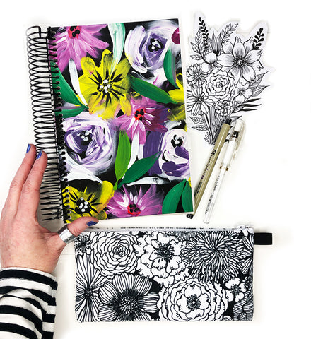 flower art journal bundle 14