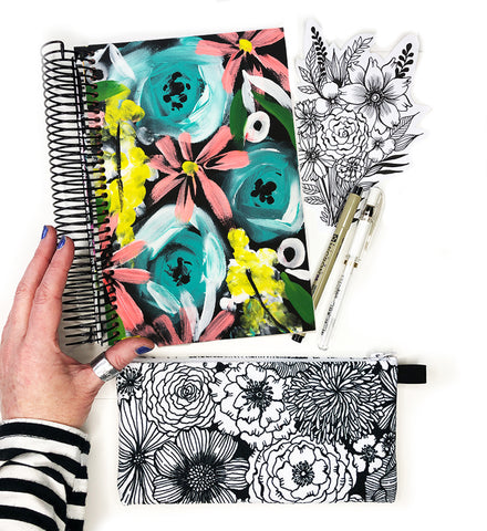 flower art journal bundle 19
