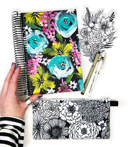 flower art journal bundle 1