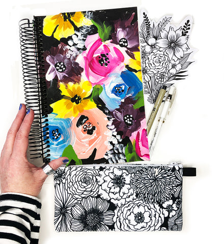 flower art journal bundle 22