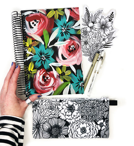 flower art journal bundle 6