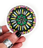 decorative mandala vinyl sticker