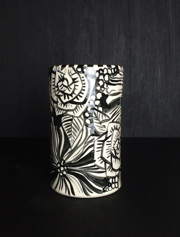SOLD- flowers cup-11