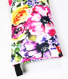 watercolor flowers pouch