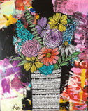 messy bouquet original painting 4