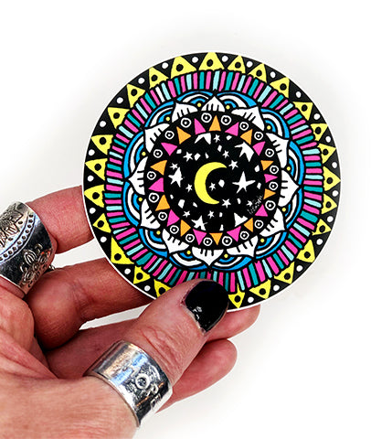 moon mandala vinyl sticker