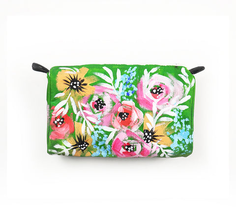 painted flower pouch15