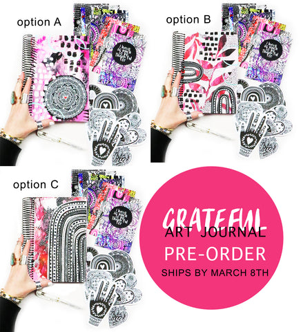 PRE-ORDER! grateful heart art journal bundle