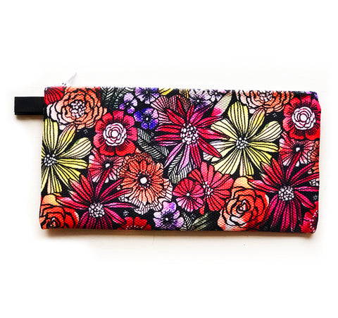 red flowers pouch