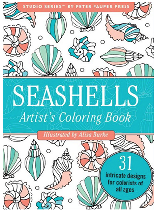 seashells portable coloring book