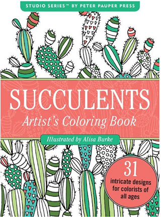 succulents portable coloring book