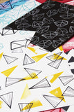 NEW! geometric- rubber stamp sheet
