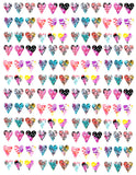 printable heart papers