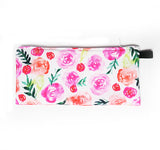 watercolor roses pouch