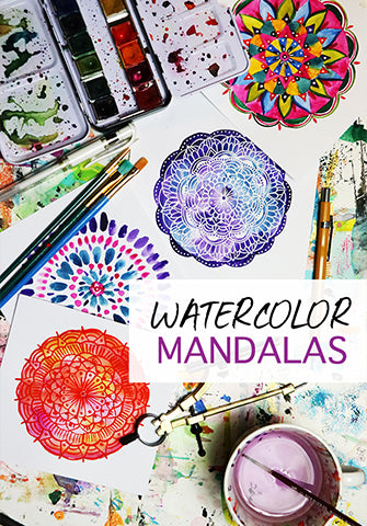 NEW! watercolor mandalas
