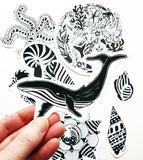 ocean paper sticker pack