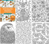 woodland portable coloring book