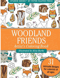 woodland creatures portable coloring book