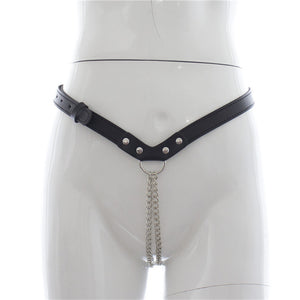 Chastity gStrings Panty BDSM Bondage Steel Chain Harnesses For Female