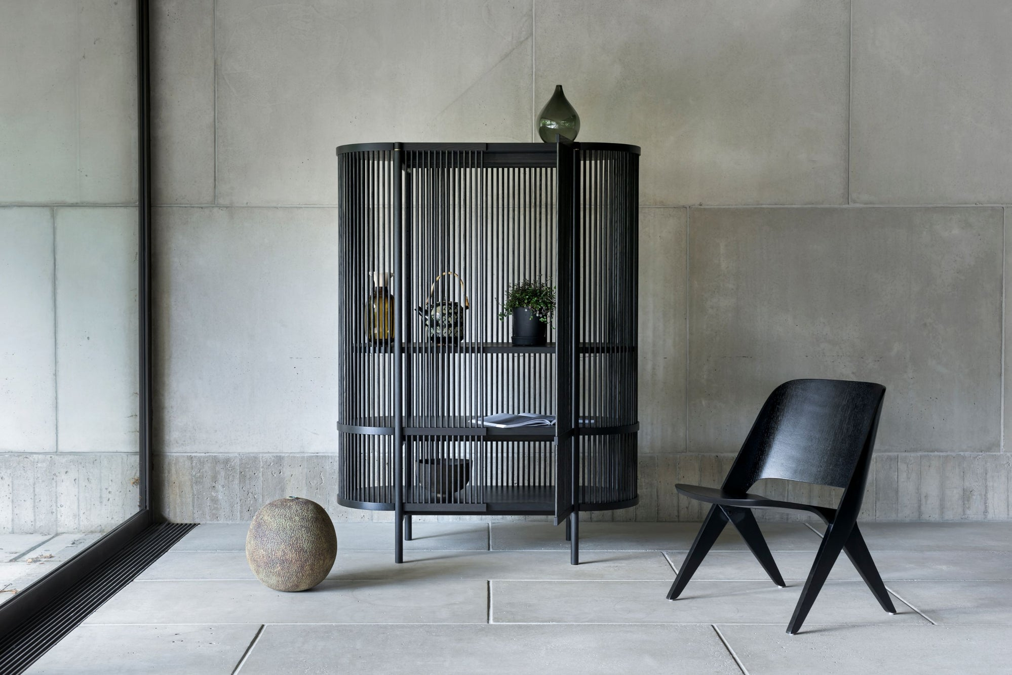 BASTONE x POIAT Cabinet - Black Oak