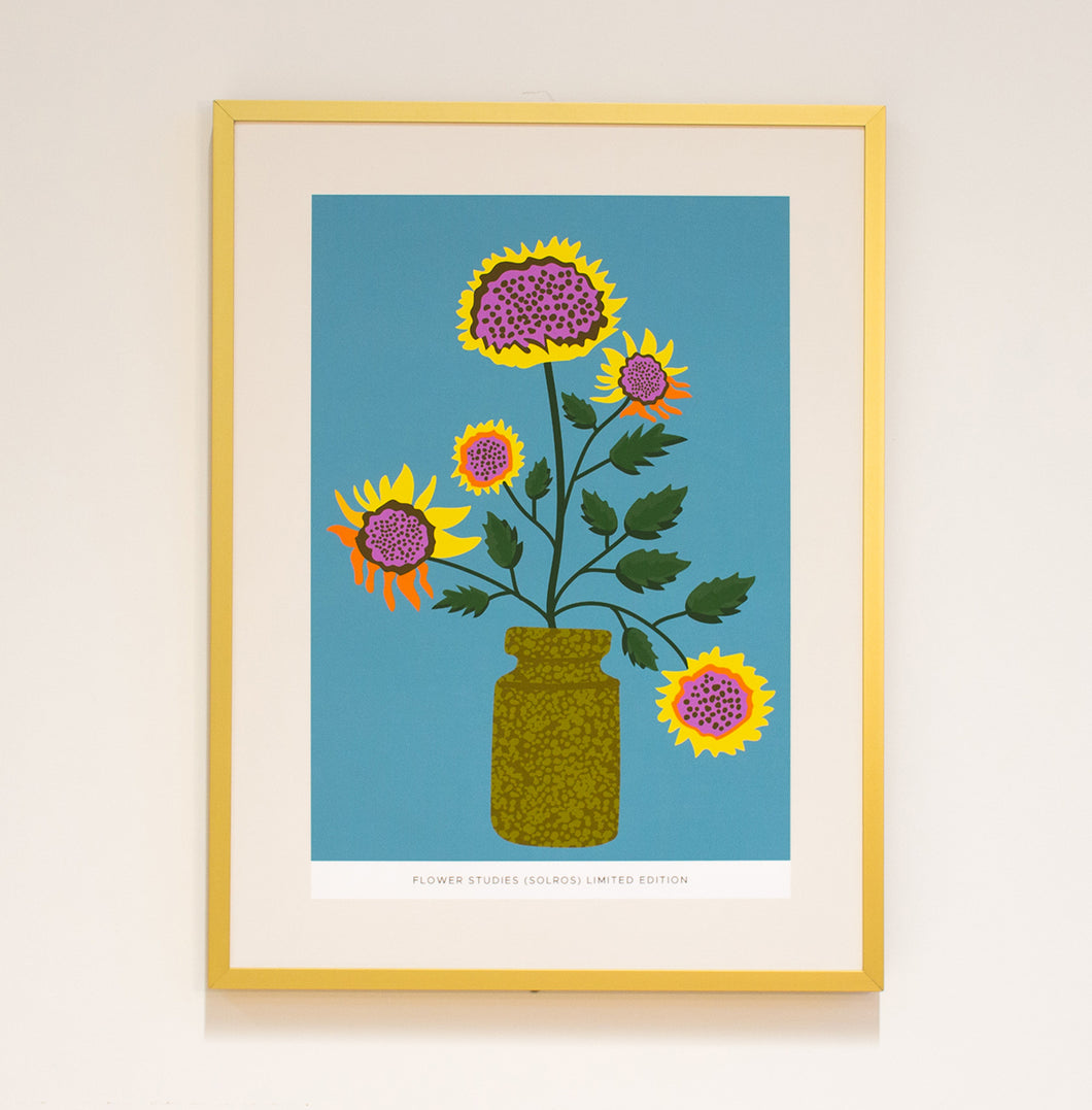 Limited Edition Print: Flower Studies (Solros)