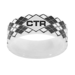Argyle CTR Ring - White Diamond Ceramic