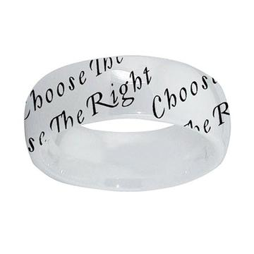 Twist Choose The Right Ring - ceramic