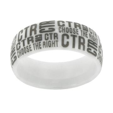 Tabloid CTR Ring -  White Diamond Ceramic