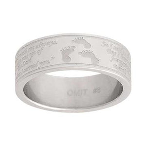 Footprints Ring - Stainless Steel