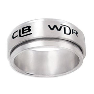 Universal Spinner CTR Ring - Stainless Steel - Represents ten languages