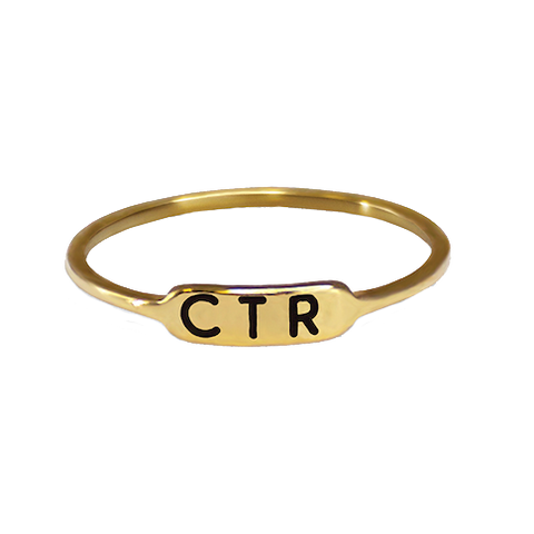 Bracket Gold CTR Ring - Stainless Steel