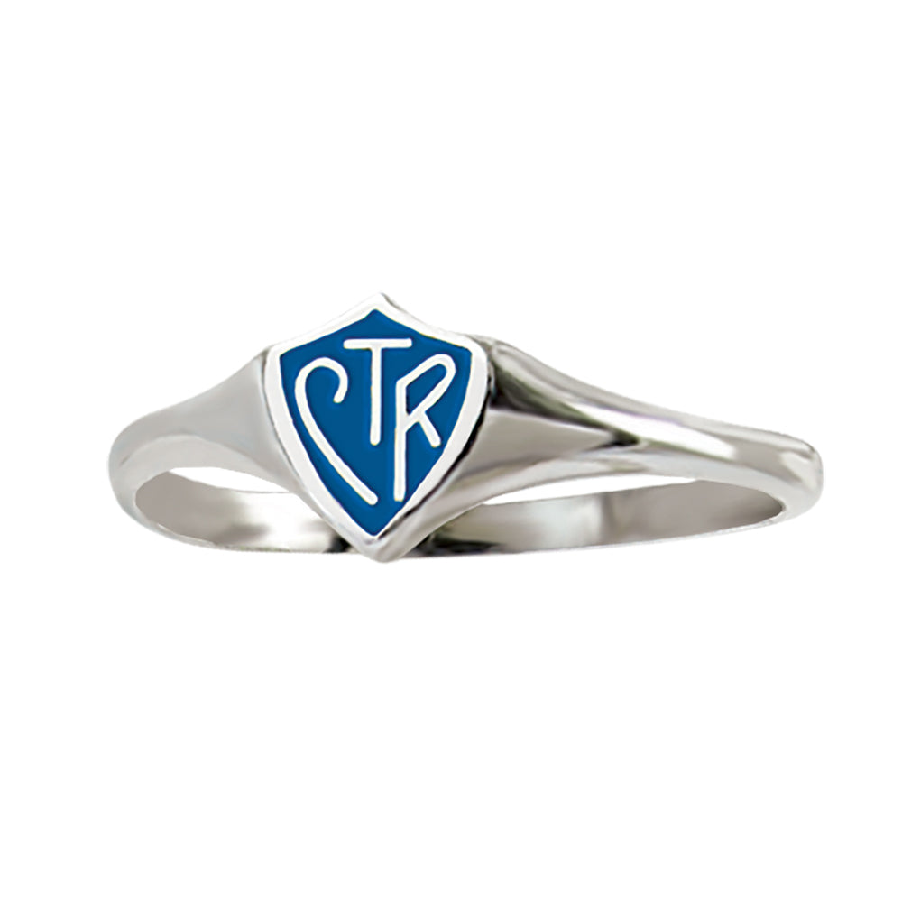 Classic Mini Blue CTR Ring - Available in Sterling Silver & Stainless Steel