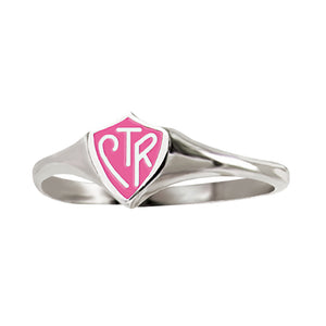 Classic Mini Pink CTR Ring- Available in Sterling Silver and Stainless Steel
