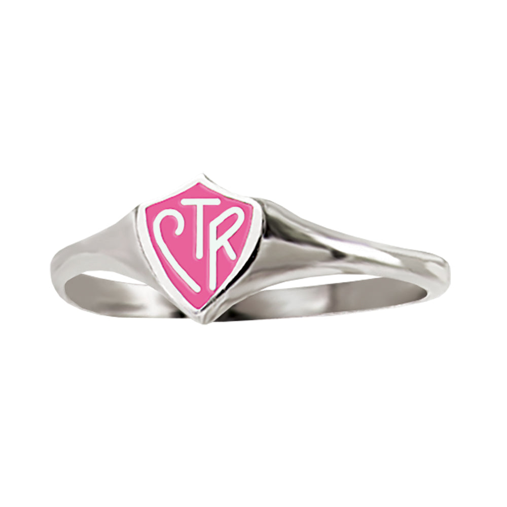 Mini CTR Ring - Pink - sterling silver