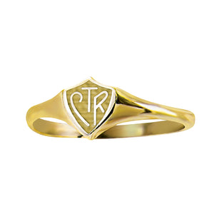 Classic Mini CTR Ring - 14 kt Gold (please allow 8-10 weeks till delivery)