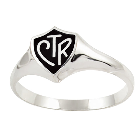 Classic Regular CTR Ring - Black - Sterling Silver